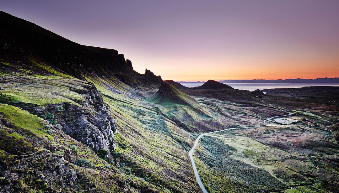 black-shed-skye-quiraing-sunset-james-ross